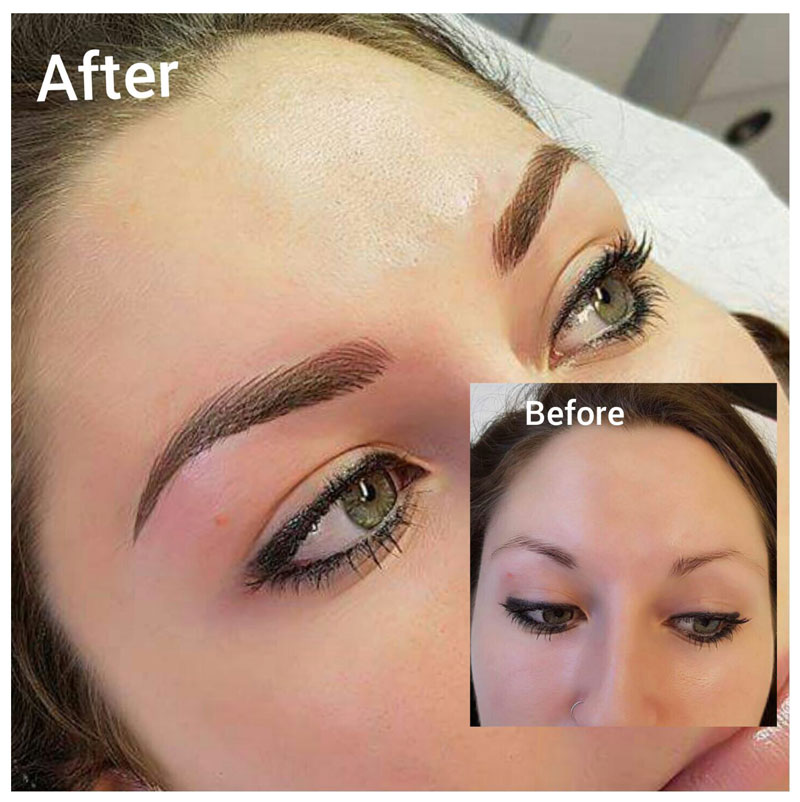 3D Eyebrow Feathering in Birmingham by Designing Faces